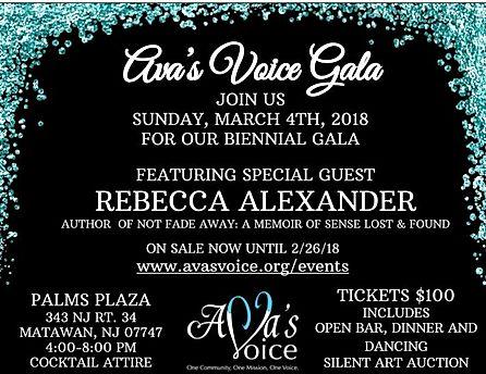 Ava's Voice Gala 2018 Flyer